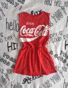 Koszulka bez rękawów sportowa z logo CocaCola...