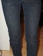 Spodnie rurki jeansowe ciemne