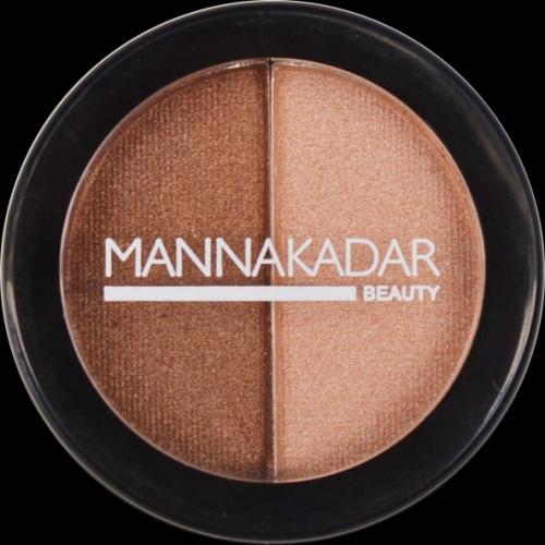 Manna Kadar Radiance Split Pan Bronzer and Highlighter Duo Bronzer i rozświetlacz Duo