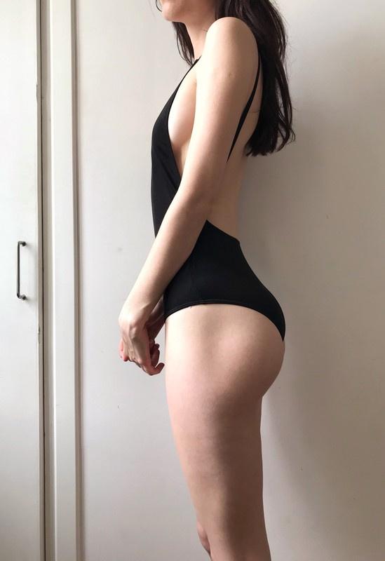 Czarny seksowny kostium kąpielowy stroj...