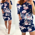 Sukienka dresowa w piękne kwiaty