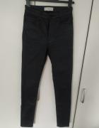 Mango 34 czarne spodnie woskowane...