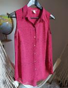 Koszula bez rękawów H&M różowa kropki wzór 36 S