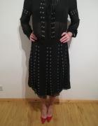 Elegancka nowa czarna sukienka ROCHELLE HUMES rozm 42...