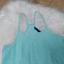 Miętowa bluzka na szelkach lato M
