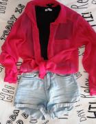 Różowa koszula lekko przezroczysta...