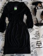 Nowa czarna sukienka zwężana w talii...