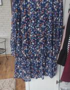 Nowa sukienka granatowa w kwiaty...