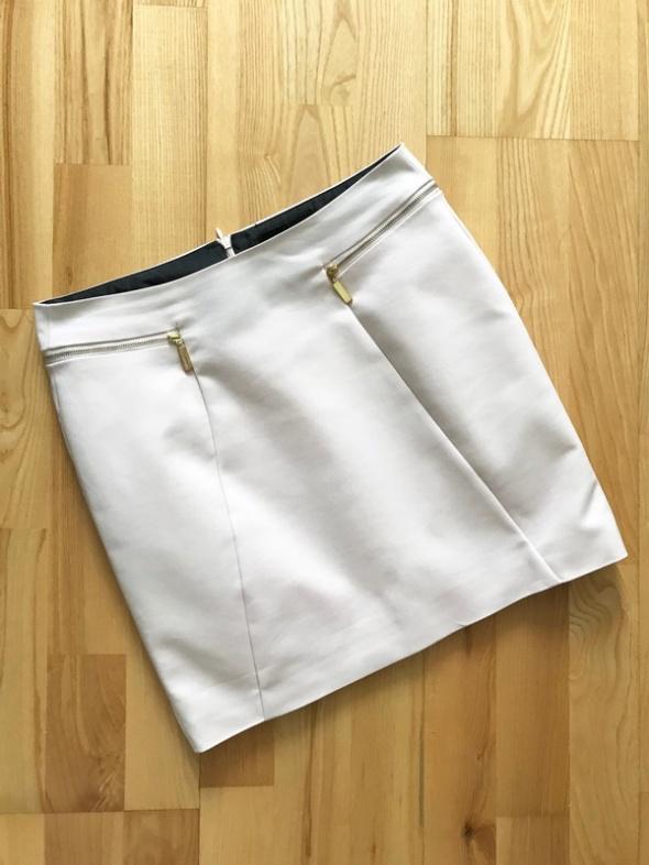 Spódnice Reserved pudrowa spódnica elegancka zip 36
