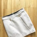 Reserved pudrowa spódnica elegancka zip 36