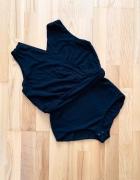 Mango Suit body eleganckie czarne asymetryczne S...