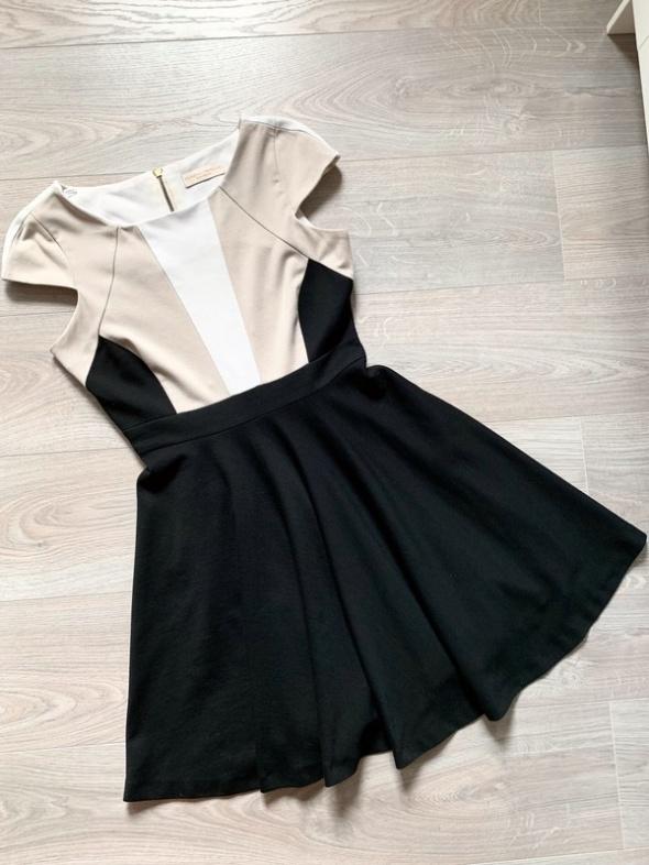 Dorothy perkins sukienka elegancka minimalizm rozkloszowana m l...