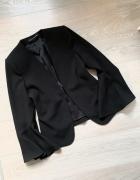 Zara marynarka elegancka czarna minimalizm rękawy S...