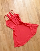 Bershka sukienka letnia neon mgiełka M...