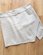 Forever21 spódnica beżowa nude asymetryczna skórzana M...