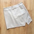 Forever21 spódnica beżowa nude asymetryczna skórzana M