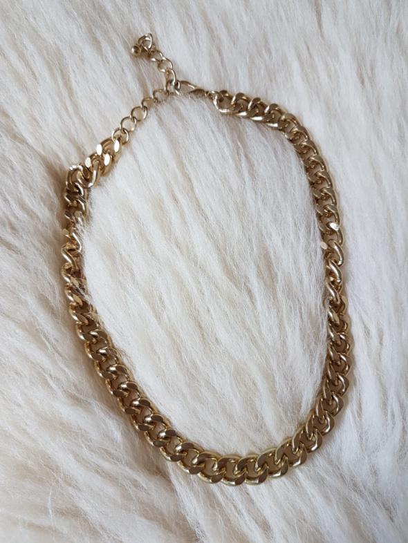 H&M gruby łańcuch złoty NASZYJNIK KOLIA PANCERKA