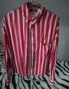 Koszula w paski burgundowa oversize...