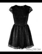 NOWA 34 XS H&M sukienka czarna koronkowa...