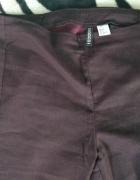 Spodnie burgundowe na zamek h&m high waist wysoki stan...