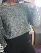 Szary sweter melanż h&m...