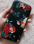 Etui case Samsung Galaxy A5 2017 kwiaty czarne