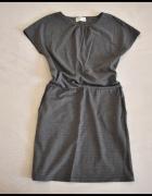 PULZ JEANS Sukienka szara melanż rozmiar 40 L stan idealny...