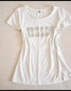 Biała koszula tshirt LEWIS miękki materiał 40 L...
