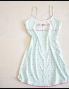 Piżama damska koszula nocna 40 L błękitna w gwiazdki