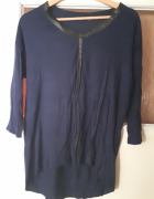 Granatowa bluzka Zara...