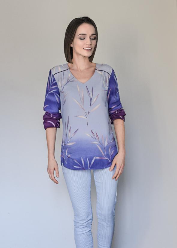Bluzki śliczna cieniowana bluzka lila Mohito nowa 36