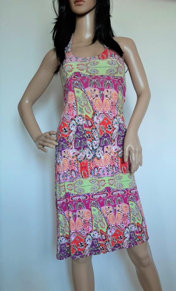 g84 sukienka midi wzory gołe plecy rozm S...