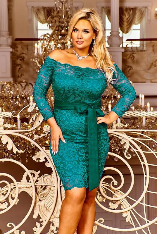 Suknie i sukienki sukienka koronkowa 36 38 40 42 44 46 48 50 kolory
