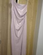 Długa sukienka na jedno ramię Katniss...