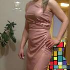 Długa sukienka na jedno ramię Katniss