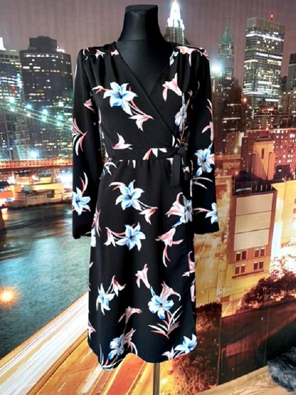 primark sukienka midi zwiewna modny wzór kwiaty floral 36 S