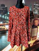 Prettylittlething sukienka kwiaty rękaw typu dzwon hit 42...