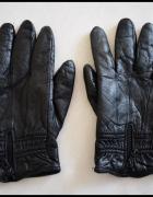 Rękawiczki zimowe chyba skórzane czarne