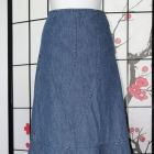 spódnica długa midi jeansowa dżins maxi boho