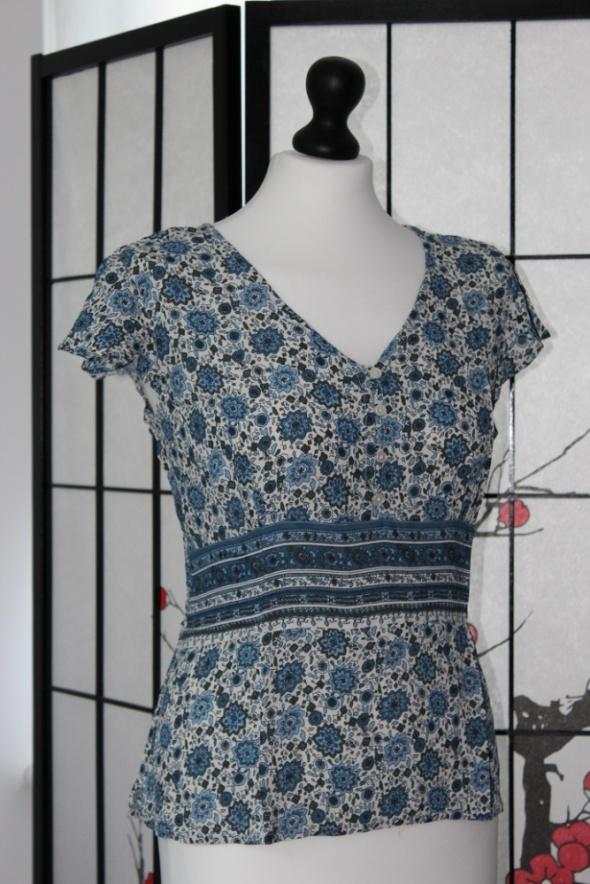koszula bluzka w kwiaty wzorki vintage