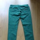 spodnie rurki dżinsy jeansowe zielone