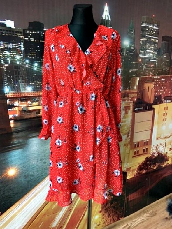 rock&star sukienka midi kwiaty groszki jak nowa zwiewna 38 M