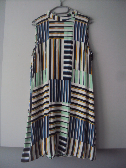 trapezowa sukienka w paski...