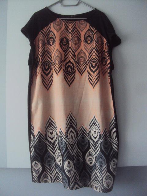 sukienka z piorami...