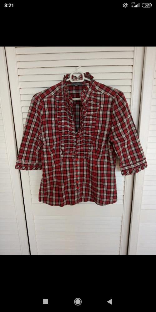Koszula w kratę czerwona l 40...