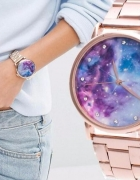 Zegarek na bransolecie kolor różowego złota kosmos