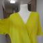 Bluzka New Look Limonkowa Kopertowa Neonowa L