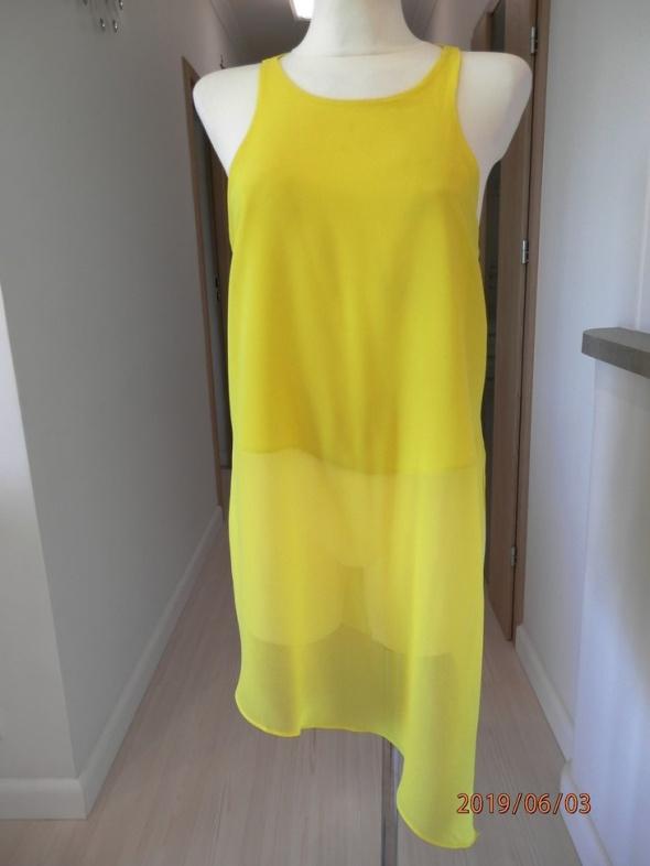 Tunika River Island Cytrynowa Żółta Neonowa Bluzka M