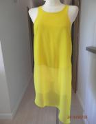 Tunika River Island Cytrynowa Żółta Neonowa Bluzka M...