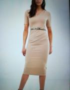 Sukienka Asos beżowa nude 42...